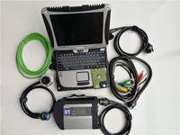 V06.2021 Strumento di diagnosi automatica di alta qualità MB STAR C4 SD Compact 4 con multi-lingue + HDD + CF19 I5 8G Computer portatili militari usati