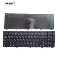 GZEELE rus laptop klavye LENOVO G580 Z580A G585 Z585 G590 Z580 MP-10A33SU-686CW RU dizüstü çerçeve ile değiştirin siyah