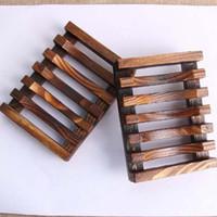 Старинные деревянные мыльница тарелка лоток держатель древесины мыльница держатели Bathroon душ ручная стирка