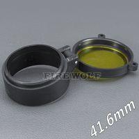 41.6mm 손전등 커버 스코프 커버 라이플 스코프 렌즈 커버 내부 직경 41.6mm 투명한 노란색 유리 사냥