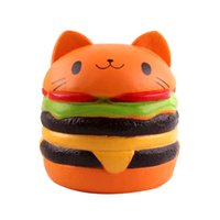 Hamburger PU Cute Lovely Cartoon Pendant Kawaii Squishy Simu...