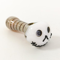 Hot Halloween Skull Glass Pipe Oil Burner Novelty Tobacco Pi...