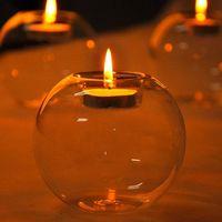 المحمولة الكلاسيكية الكريستال الشفاف الزجاج شمعة حامل الزفاف بار حزب ديكور المنزل شمعدان مطابقة كتلة شمعة