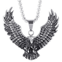 Luxury Jewelry Dragon Gothic Vintage Eagle Necklace Pendant