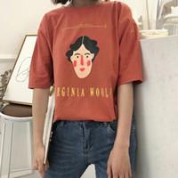 f3c4becd9e81b7 Sommer Neue Stil Frauen T-shirt Europäischen Amerikanischen Druck Kurzarm O  Neck Baumwolle Frau T-shirt Lose t-shirt Frauen