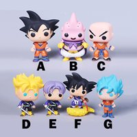 7 stil FUNKO POP Q version von Super Saiyan Sun WuKong PVC animation Action-figuren modell Sieben dragon ball