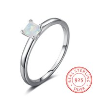 high quality pop s925 sterling silver Fashion Solitaire Opal...