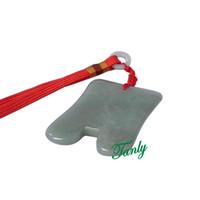 새로운! 전통적인 침술 마사지 도구 Guasha 뷰티 스파 보드 자연 Aventurine 작은 U 모양 12pcs / lot
