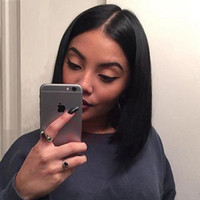 Short Bob Human Hair Lace Wig Short Straight Lace Front Wigs...