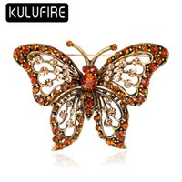 KULUFIRE Big Crystal Butterfly Brooch Pin Top Grade Large br...