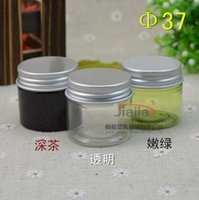 25 grams green clear brown PET Jar,25ml Plastic Jar with silver Aluminum cap Cosmetic Packaging Personal Care Sample Container