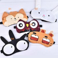 Cute Eye Mask Soft imbottito Sleep Travel Ombra Cover Rest Relax Sleeping Blindfold styes misti