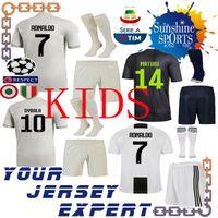 Juventus 7 RONALDO TERCEIRO cinza kids kit 18 19 camisas de futebol 10  DYBALA D. 50ae6f67b7582