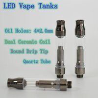LED Vape Tanks Vape Cartridge Ceramic Coil 0. 8ML Oil Vape Pe...