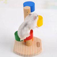 Naturale di legno colorato Scala Scala finti Giocattoli Pet Rat criceti giocattolo del criceto di legno divertenti Esercizio Torre di guardia del mouse Giocattoli