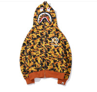 Yellow Men' s Clothes Hoodies Jacket Gray Camouflage Sha...