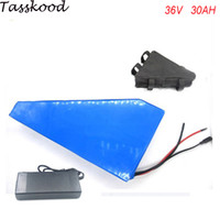 Free customs taxes electric bike battery 36V 30AH triangle b...