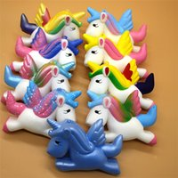 9 couleurs Squishy Pegasus Licorne Jumbo Cartoon Lent Rebound Rising Super Douce Simulation Squeeze Stress Reliever Decompression Toy