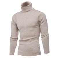 Winter Thick Warm 100% Cashmere Sweater Men Turtleneck Brand...