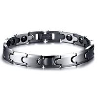 Wolfram-Carbide Magnetic Hämatit Herren Armband, Anti-Müdigkeit, Schmerzlinderung Magnetfeldtherapie Link Armband