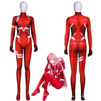 Darling in the frankxx 02 Zero Two bodysuit Cosplay Costumes...