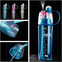 Grande capacidade de pulverização de Esportes de plástico copo de água Criativo Portátil garrafa de água ao ar livre 3 cores Garrafas de Bebida T3I0446