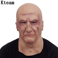 2018 Halloween Funny Smiling Old Man Latex Mask Realistic Ol...