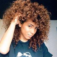 Afro mode africaine dames noir perruques rouleau africain obliques à long petit volume perruque couleur mélangée coiffures synthétique perruque cosplay perruques