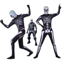 Halloween Adult Cosplay Costume Fortnite skull trooper cospl...