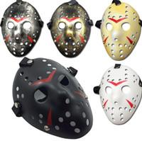 Noir-Rouge Jason Masque Cosplay Visage Complet Tueur Masque Jason vs Vendredi Horreur Hockey Halloween Costume Effrayant Masque Livraison gratuite SN014