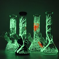 Glow in the Dark Bongs Glass Unique UV Bong Arm Tree Perc Be...