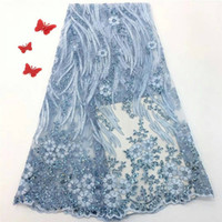 New Design 3D Applique Lace Fabric High Quality Latest Afric...