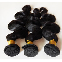 Indian remy hair weft body wave Natural Color #1B Black Chea...