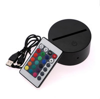 7 Colors RGB LED Lamp Base for 3D Illusion Lamp 4mm Acrylic ...