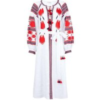 NEW Design Ukraine folk women pattern dress embroidery tasse...