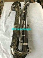 Atacado- MADE IN CHINA NOVO preto níquel ouro Frete grátis Mark Mk Low Bari Saxofone Sax Barítono
