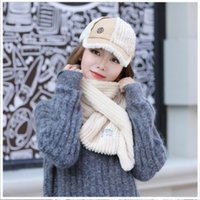 2018 New Autumn And Winter Plus Velvet Thickening Scarf Hat ...
