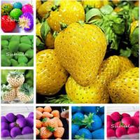 120 Pcs Plantation Rare Couleur Graines De Fraise Semenatsvety Jardin Bonsail Fruit Délicieux Indoor Bonsai DIY Home Garden, Livraison Gratuite