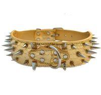 Cuello de perro de mascota Accesorio Patrón de cocodrilo pico clavo collar del animal doméstico perro grande Collar ajustable collares J19