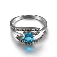 Retro Women 925 Sterling Silver Plated Sapphire Gemstones Bi...