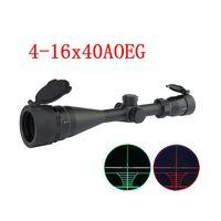 Âmbito do rifle do Sniper do espaço 4-16X40AOEG da caça com a lente objetiva ajustável do retículo do Rangefinder do verde vermelho iluminado