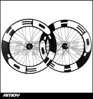 Ücretsiz kargo 25mm genişlik HED boya 88mm Derinlik sabit vites karbon tekerlek tam karbon 700C yol parça bisiklet bisiklet tekerlekleri