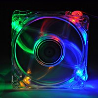 120mm Fans 4 LED Color For Computer PC Case Cooling #2134