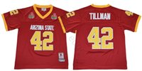 NCAA Arizona State Sun Devis College # 42 Pat Tillman Jersey ASU 1997 Gül Kase Dikişli Pat Tillman Ev Maroon Üniversitesi Futbol Formaları