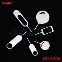Alta Qualidade SUS 304 Aço Inoxidável Cartão SIM Bandeja Ejetar ferramenta chave para iPhone iPad Samsung Huawei Xiaomi telefone móvel Atacado fábrica