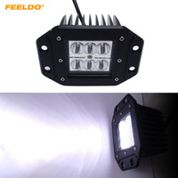FEELDO 4Inch 18W 6LED Car LED Luce da lavoro Off Road Spot Flood Light DRL per Motocicli 4x4 Veicoli SUV DC12-24V # 1061