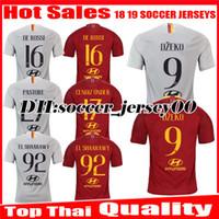 2018 2019 EL SHAARAWY ROMA casa lejos fútbol Jersey 1819 uniformes de  fútbol MANOLAS DZEKO DE cd5c10a8751f4
