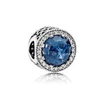 Marke Desinger Schmuck Authentische Reale 925 Sterling Silber Opal Ozean Herz Perlen Charms Perlen Fit Kette Armband Armreif W5