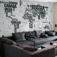 3D retro brick wall large mural personality three - dimensio...