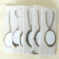 tomma halsband pendlar för sublimering kvinnor män halsband hängsmycke smycken för termisk överföring utskrift DIY levererar små grossist